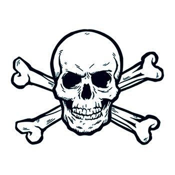 skull and crossbones temporary tattoos 1601 welcome to team pomelo